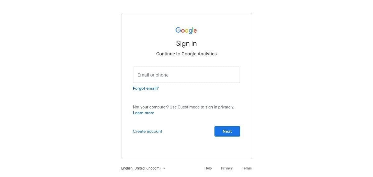 Google Analytics Goals Sign In