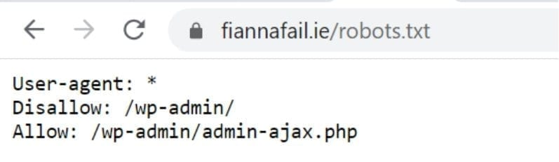 fianna fail robots.txt