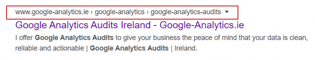 On Page SEO - effect of logical, human-readable URLs on breadcrumbs in SERP